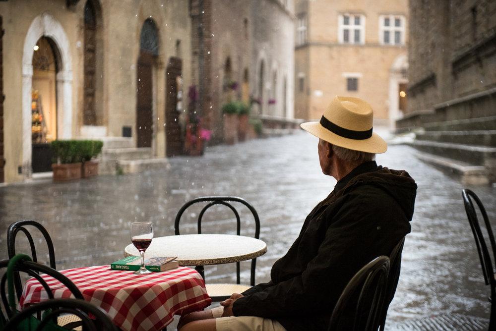 Rainy day in Pienza