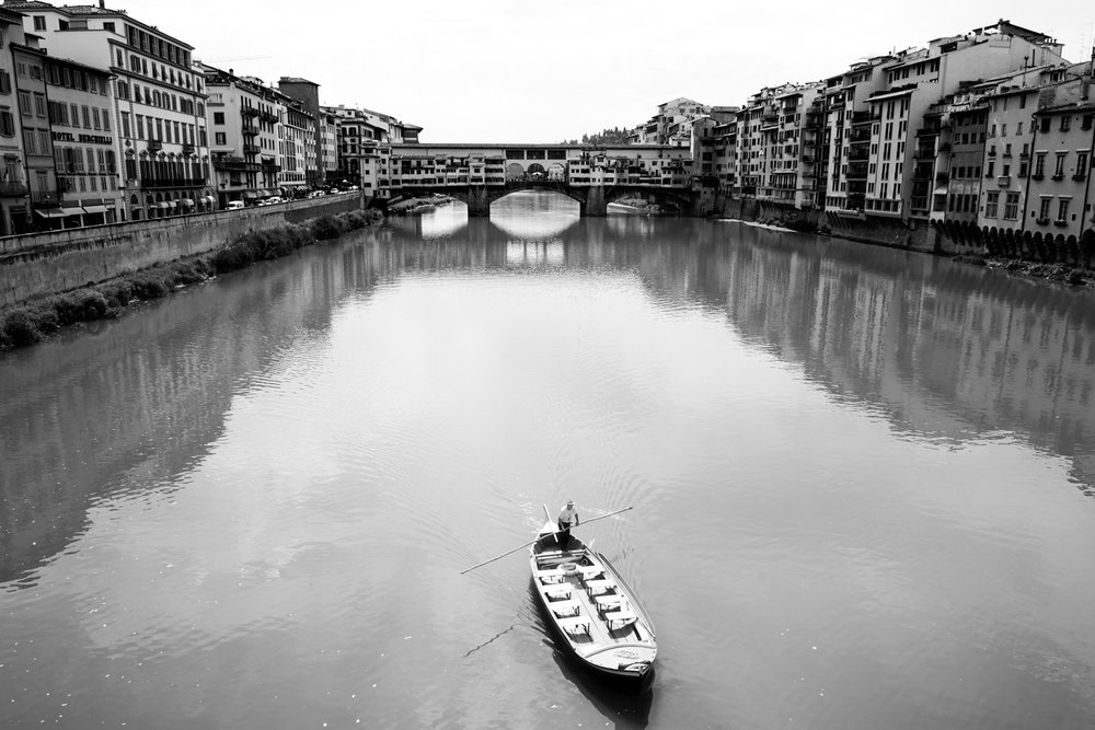 Arno river in Florence  PHOTO: ANNA VOLPI • NIKON D750 • 24-70mm Ƒ/2.8 @ 24mm • Ƒ/8 • 1/1000 • ISO 320