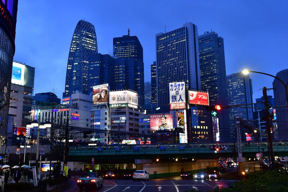 Shinjuku Skyscraper district  PHOTOGRAPHY: ALEXANDER J.E. BRADLEY • NIKON D500 • AF-S NIKKOR 24-70MM Ƒ/2.8G ED @ 48MM • Ƒ/2.8 • 1/60 • ISO 400