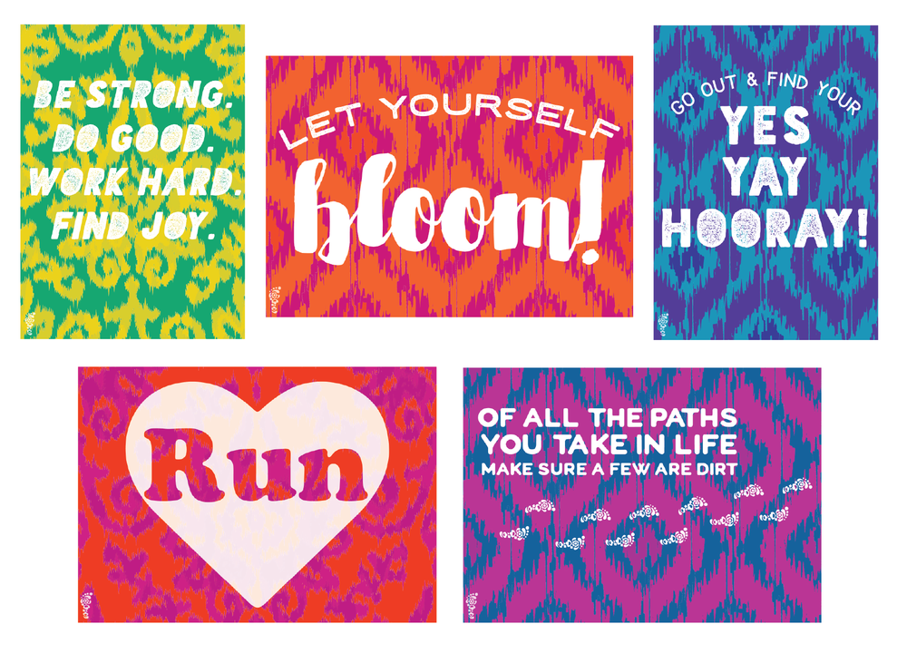 greeting card set created for Run Pretty Far