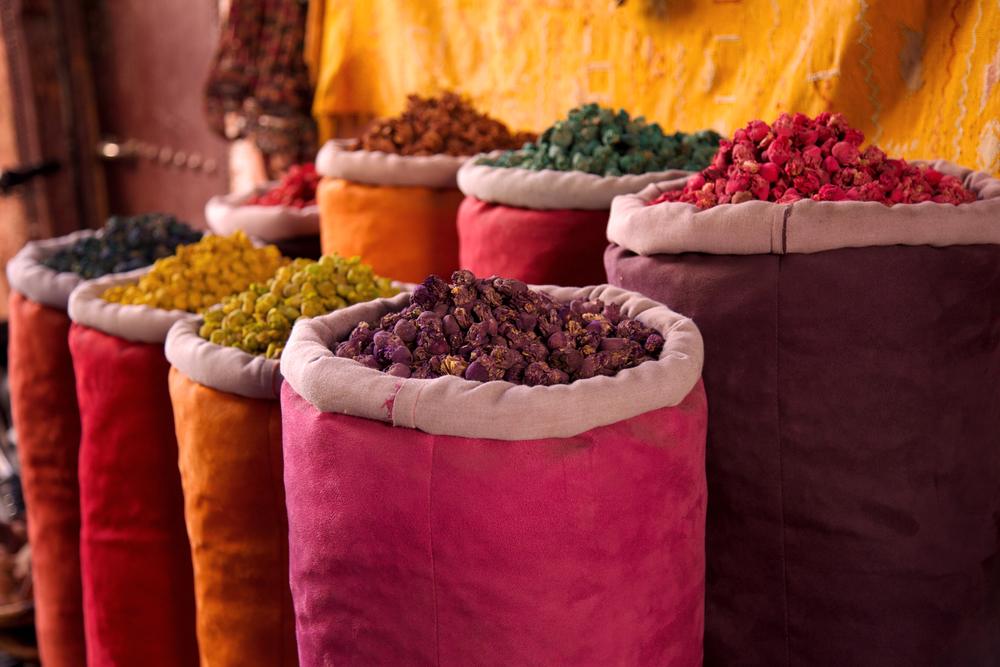 Arabic spices, Marrakesh, Marocco