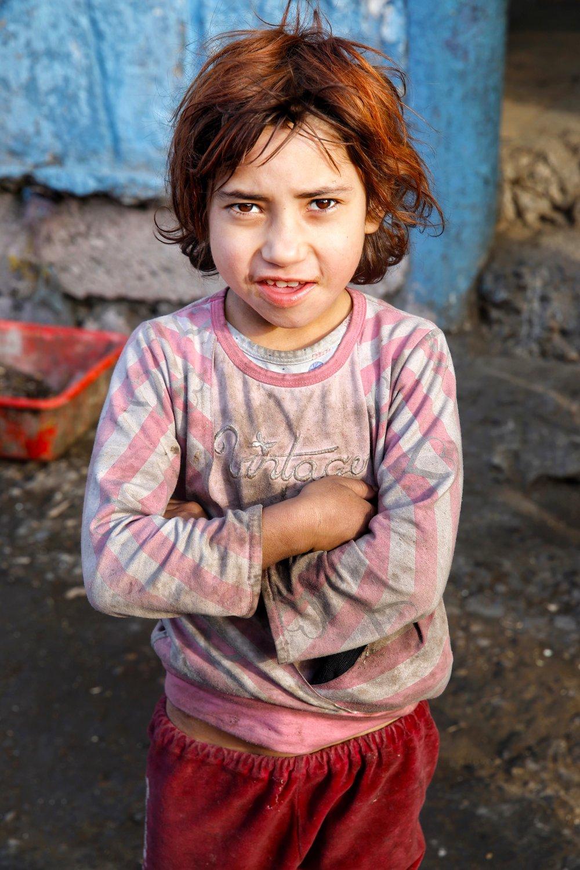 Roma girl, Pleven suburbs, Bulgaria