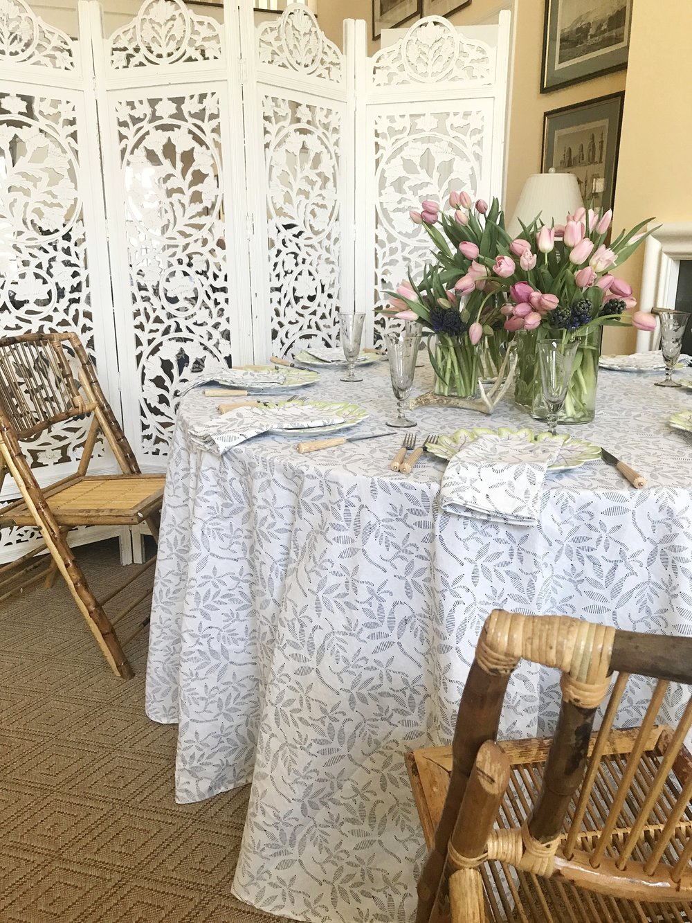 New   Spring Hyacinth Tablecloth