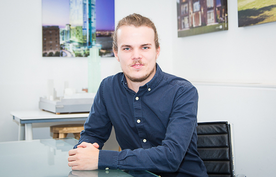Tom Wilkinson  Architectural Assistant    Tom joined Calderpeel in 2017. With an enthusiasm for design and creativity he is a valuable member of the team.