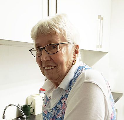 Pat Ball  Domestic Engineer !   A key member of the Calderpeel family, Pat has kept the team and the studio on the straight and narrow for the last 25years!