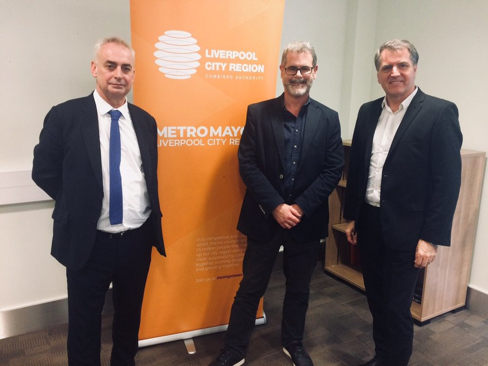 14/11/18    Our MD Ewen Miller at the launch of the Design Champion in Liverpool today, alongside Paul Monaghan and the Metro Mayor of Liverpool City Region Steve Rotheram.