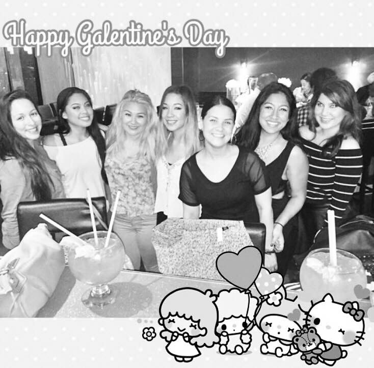 #TBT Galentine's Dinner 2015 with the fishbowl cocktails
