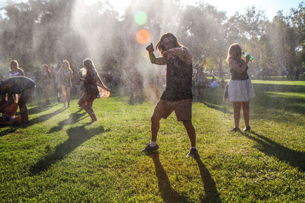Dancing in Water Misters at Dirtybird Campout | source: Dirtybird Records