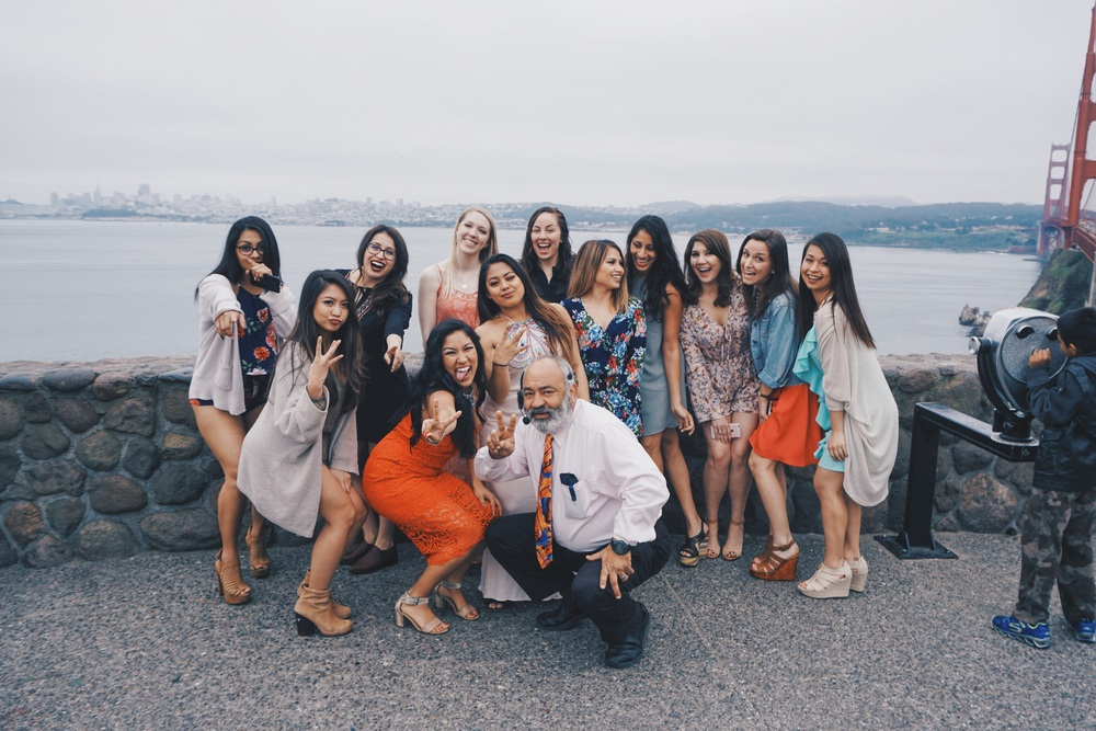 The ladies getting in formation with Abe, the best wine tasting host in San Francisco. He is accommodating, hospitable and has quite the sense of humor that compliments your experience just perfectly.