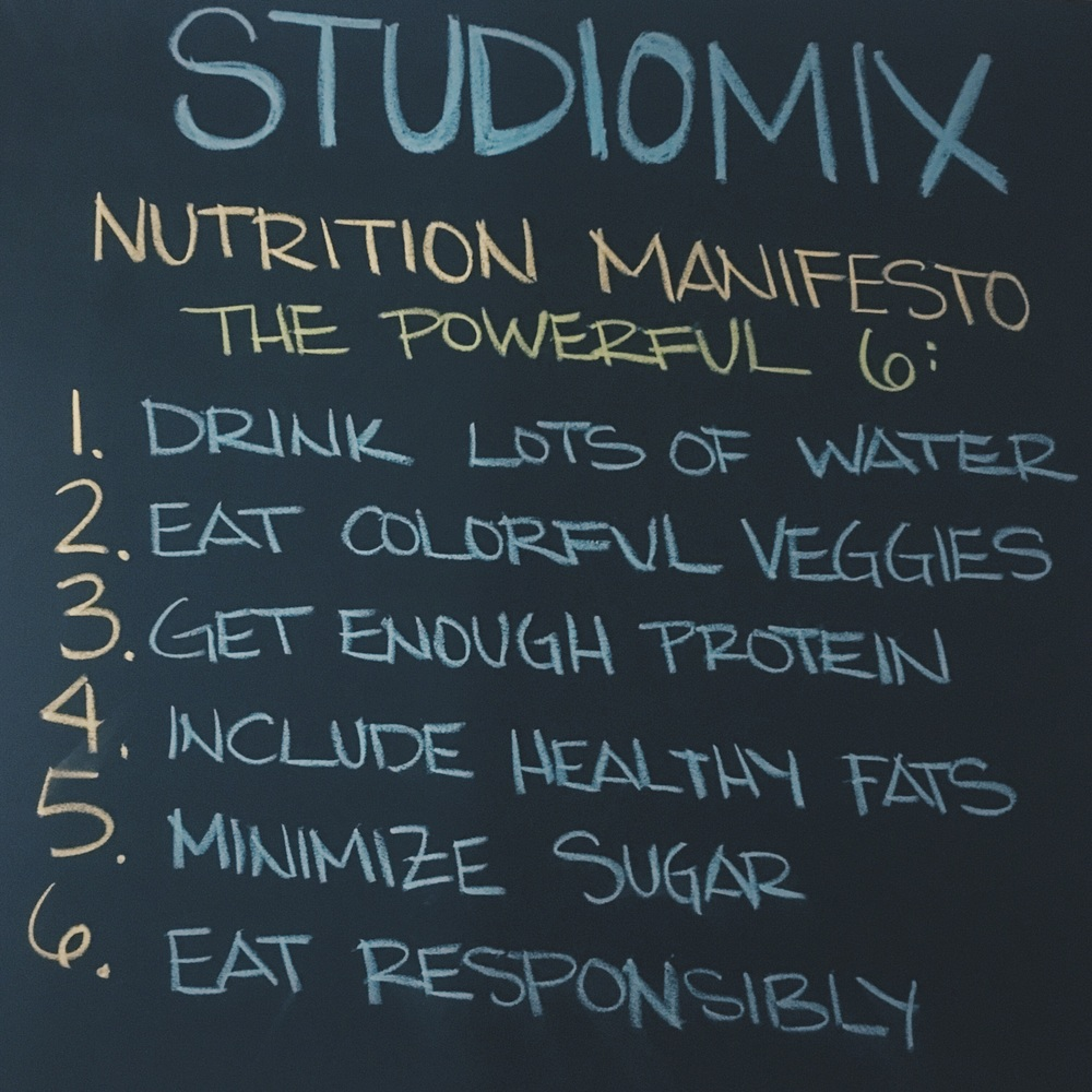 The Studiomix Nutrition Manifesto
