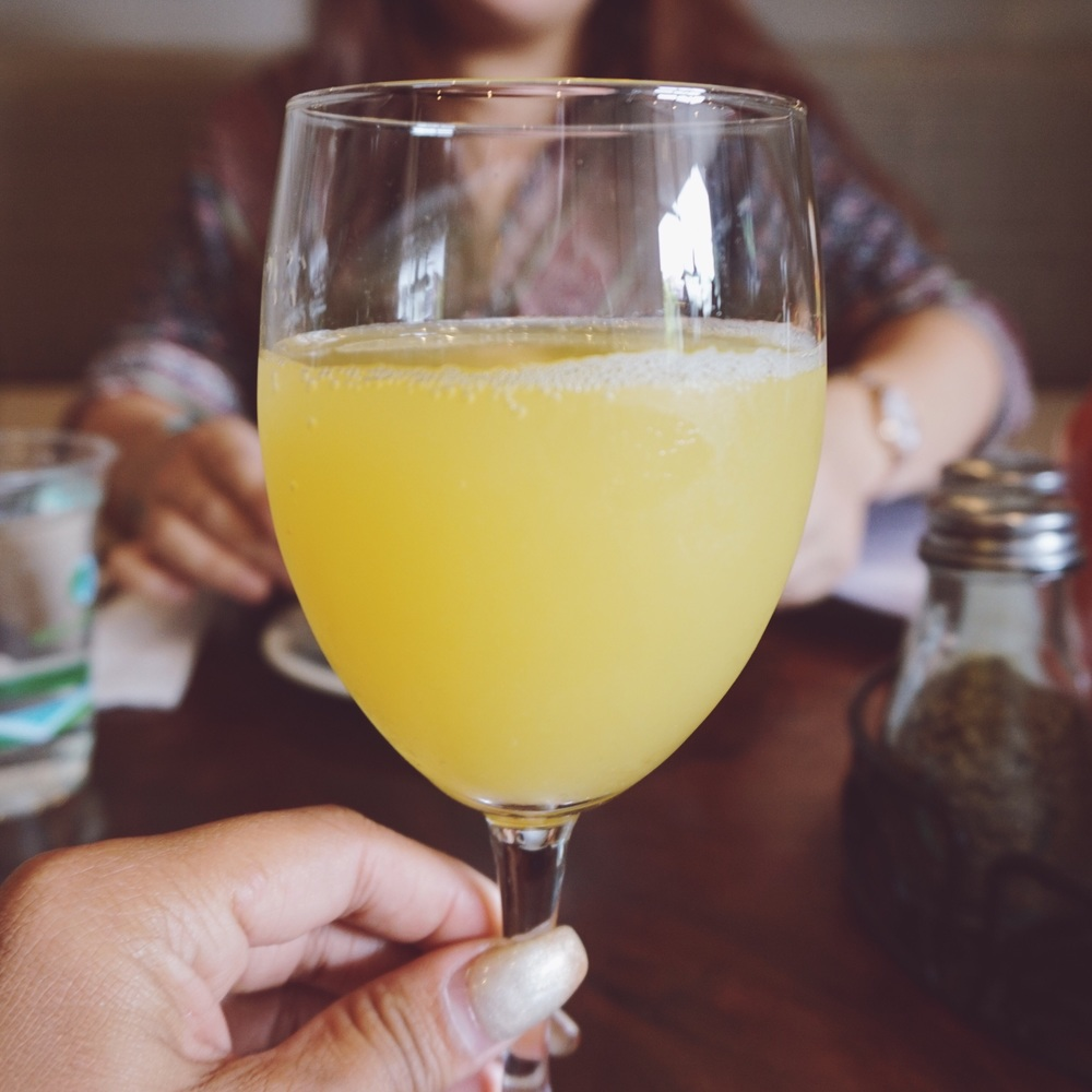 The hardest brunch decision always comes down to choosing between a refreshing and chilled mimosa, or coffee for a kick of caffeine in the morning. This time, I went with the mimosa.