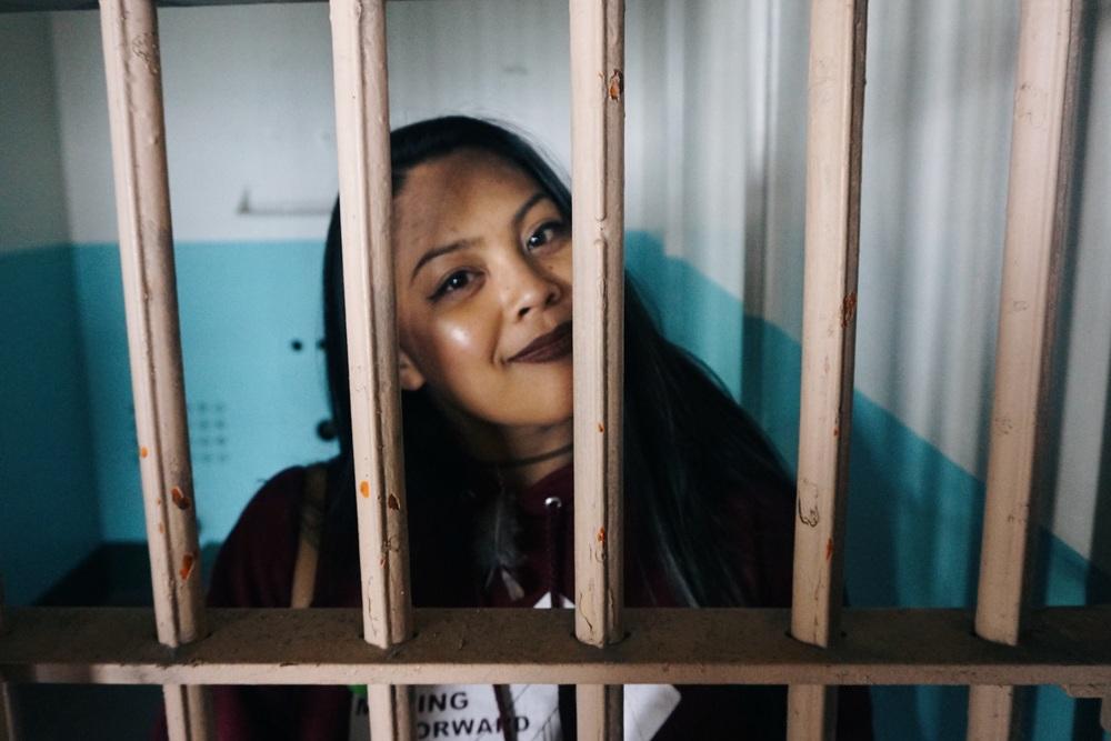 """Locked up in D block.This was Robert """"Birdman"""" Stroud's cell."""