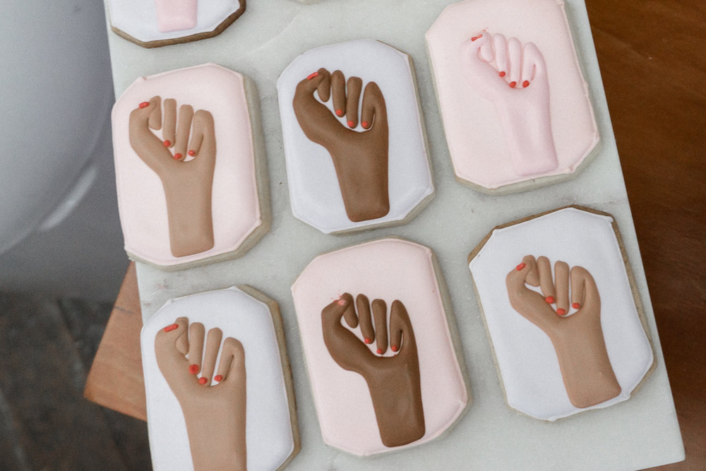Female Empowerment cookies by  @ xobakes