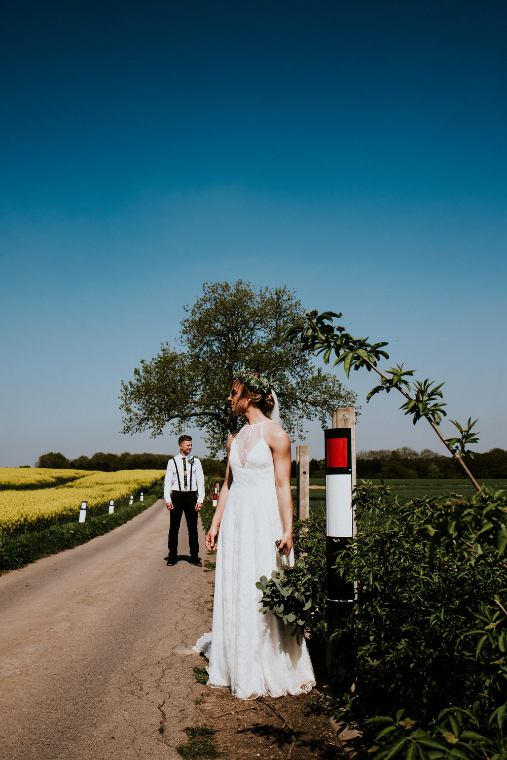 Spring vibes, Boho Barn Inspiration & Colourful Creative Portraits in this Swancar Farm Nottingham Alternative Wedding with Naomi & Alex
