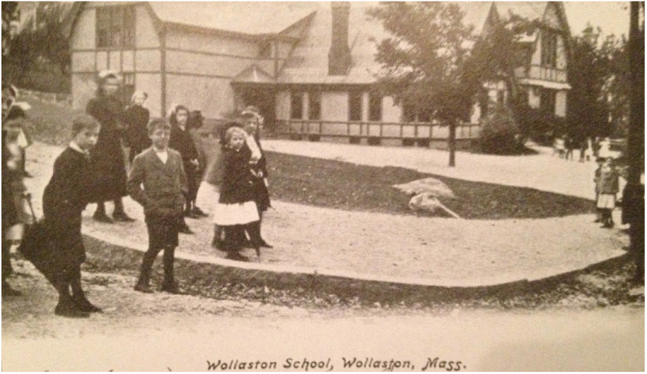 Wollaston Elementary School at what is now Safford Park.