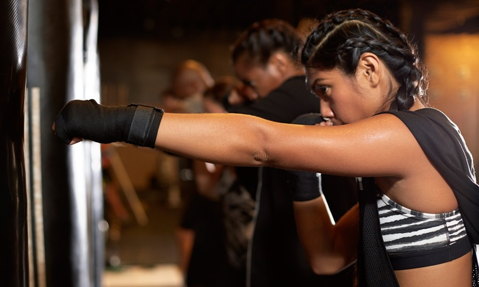 "Here's the Groupon I purchased.  ""5 or 10 Kickboxing Classes at Kickboxing Silver Spring (Up to 86% Off)""  Pretty sweet deal for beginners/those looking to break a sweat (or several)! Try it out!"
