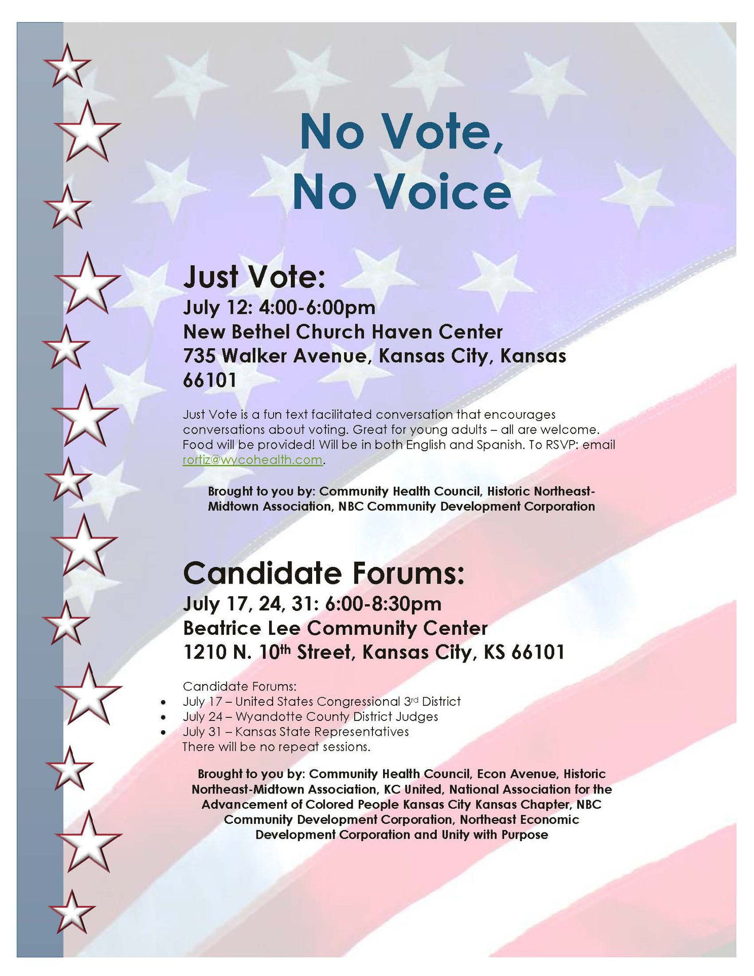 Candidate Forums - Kansas State Representatives — Healthy