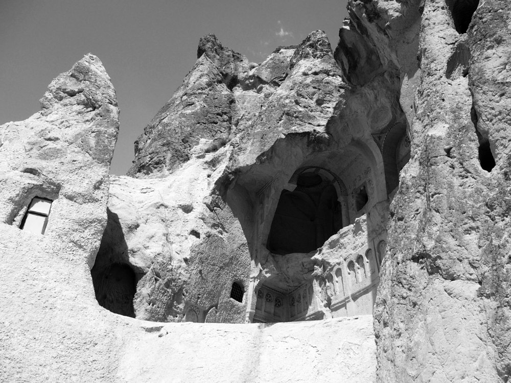 2. The Dark Church, carved in nature's envelope, sixth or seventh century, Cappadocia, Turkey. © Bill Caplan