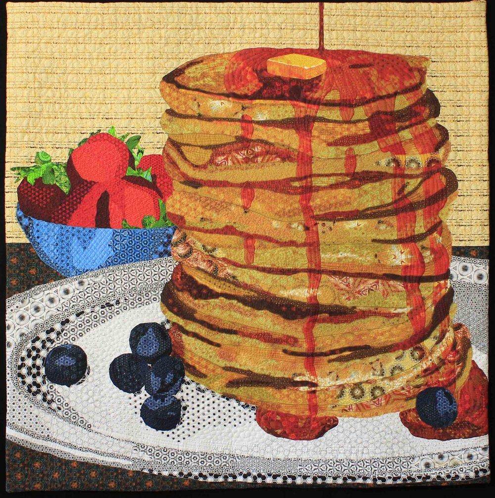 """Pancakes 32"""" x 32"""" by Dawn Allen"""