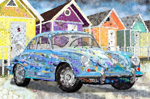 vintage car art artist dawn allen