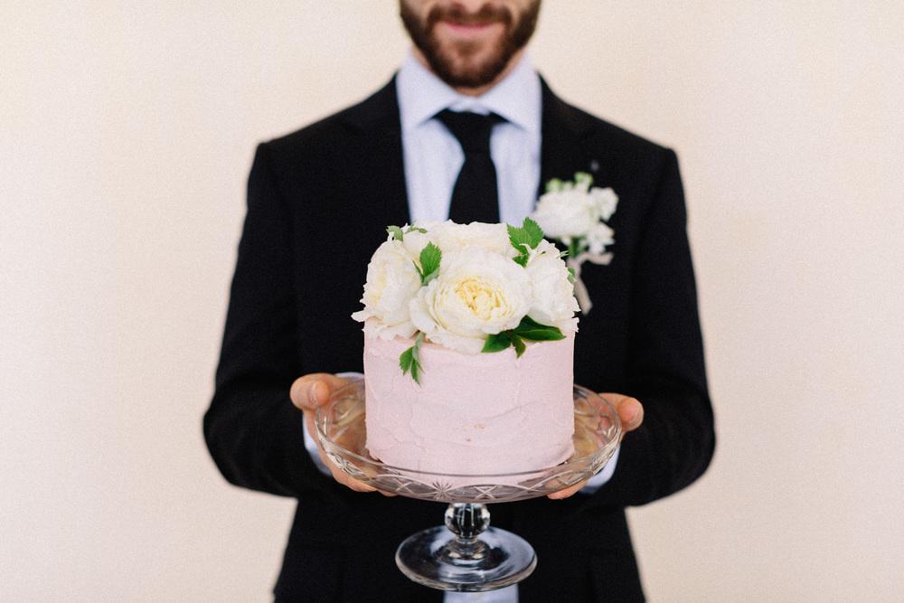 Elderflower frosted lemon cake