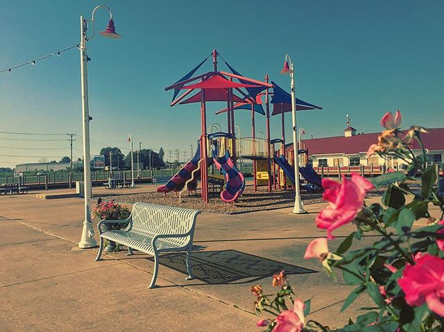 The playground waits forlorn on an otherwise beautiful afternoon...