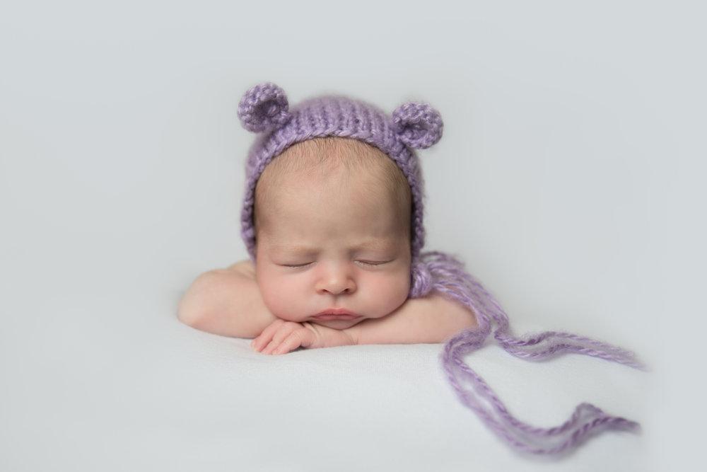 baby girl in bear heat