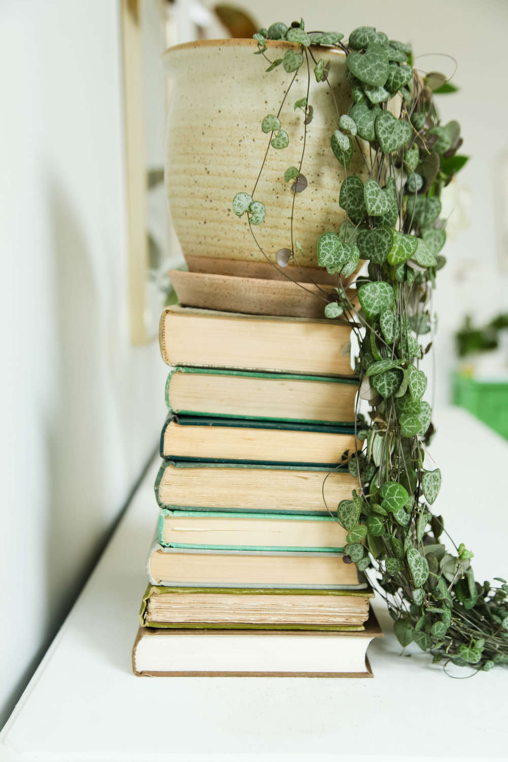 Style tip: Stack books for height.