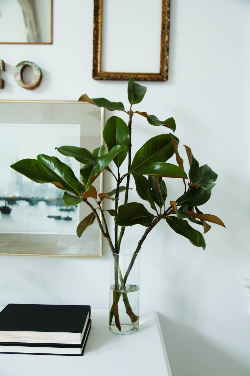 style tip: Cut a few branches of magnolia tree. Its simple and free!