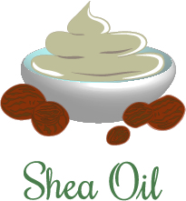 Shea Oil: A non-comedogenic, anti-inflammatory oil composed of essential fatty acids that rejuvenate, heal, and moisturize skin.