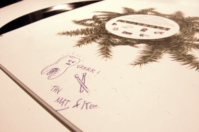 Also, they make cute drawings on your record is you ask nicely.