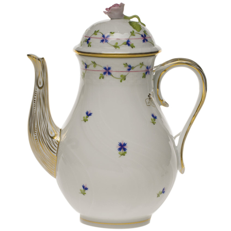 Blue Garland Coffee Pot