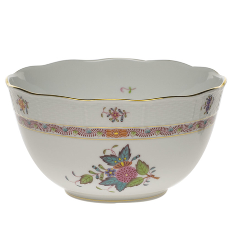Chinese Bouquet Multicolor Round Bowl
