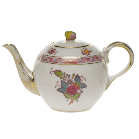 Chinese Bouquet Multicolor Tea Pot