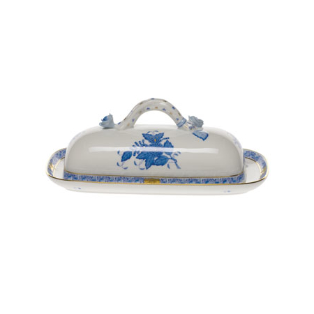 Chinese Bouquet Blue Butter Dish