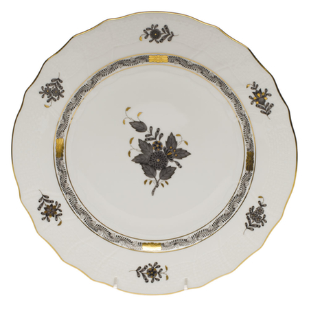 Chinese Bouquet Black 10.5″ Dinner Plate