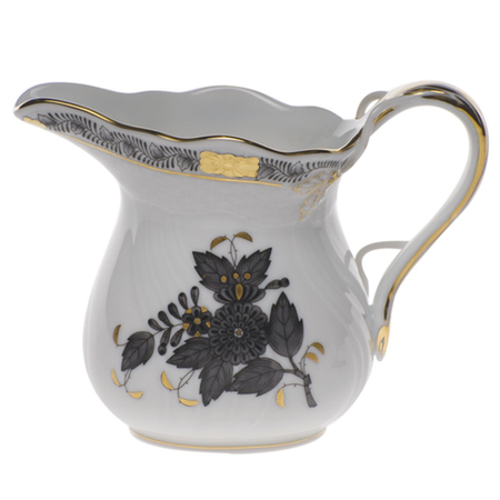 Chinese Bouquet Black Creamer