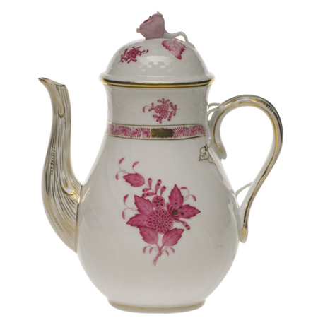 Chinese Bouquet Raspberry Coffee Pot