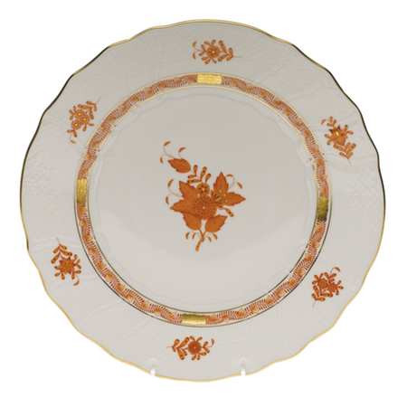 Chinese Bouquet Rust Dinner Plate