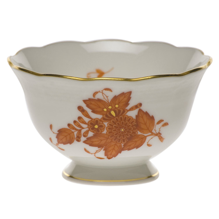 Chinese Bouquet Rust Open Sugar Bowl