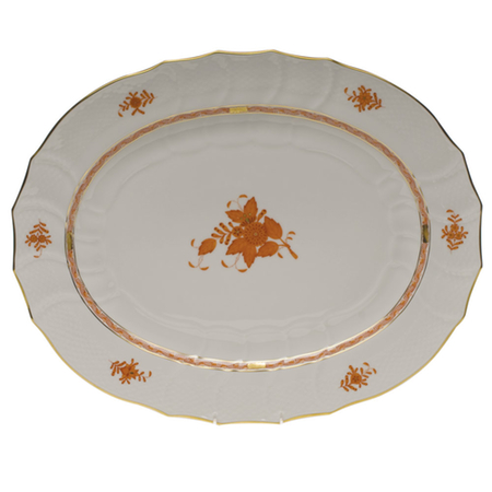 Chinese Bouquet Rust Turkey Platter