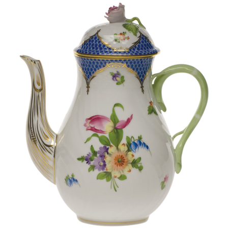 Printemps Blue Coffee Pot