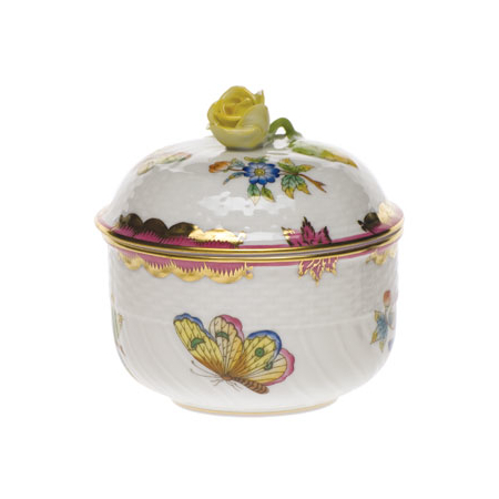 Queen Victoria Pink Covered Sugar Bowl