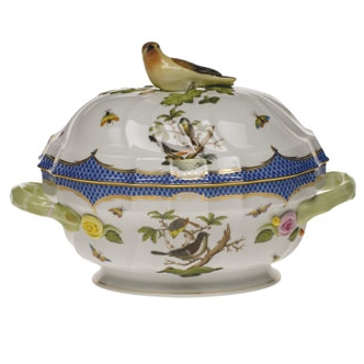 Rothschild Bird Blue Tureen