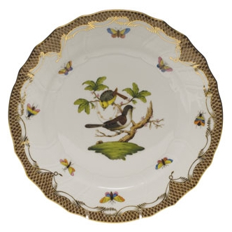 Rothschild Bird Brown Dinner Plate
