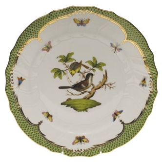 Rothschild Bird Green Dinner Plate