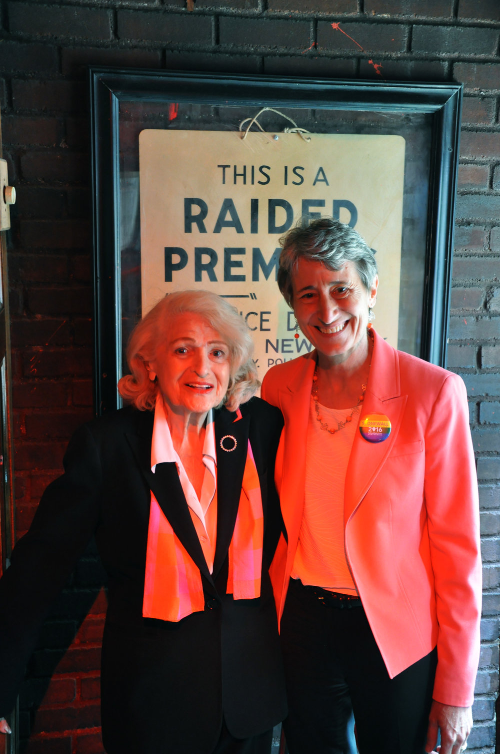 Edie Windsor & Sally Sec of Interior.JPG