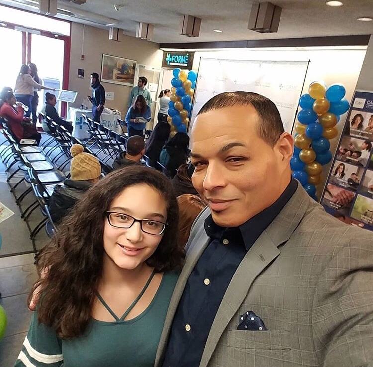 Managing Director Miguel Gonzalez spoke at the event and even brought his daughter!