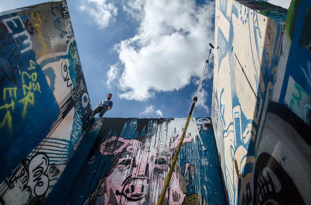 Graffiti wall in Austin, Texas