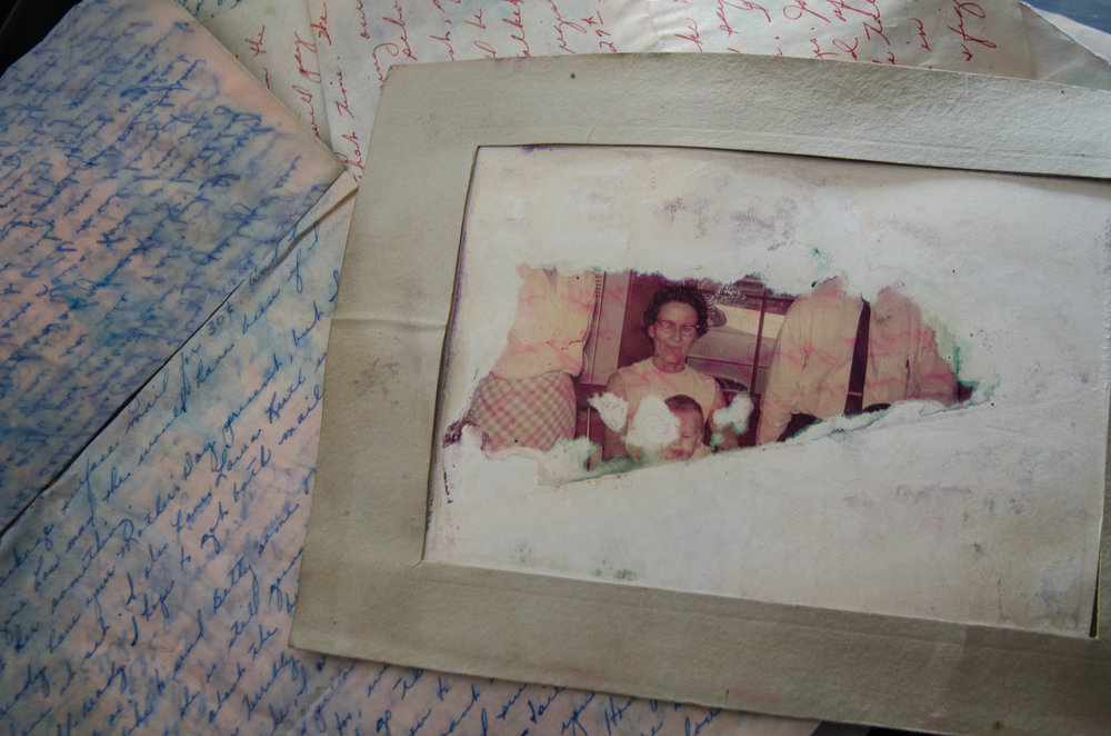 The flood spared only a circle in the photograph, perfectly around the face of Elizabeth Buie's grandmother.